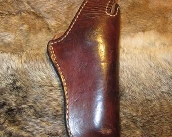 Pre-owned Vintage Longhorn 52-24 Brown Leather Holster