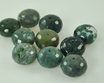 10 Large Green Agate 15 mm beads