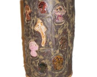 Ceramic Mushroom Vase or Pot