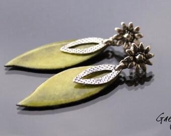 Helen - earrings, silver Sterling and enameled copper - Bohemian Chic - bo gaelys