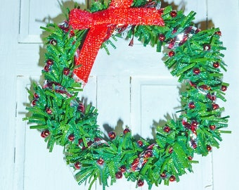 "1"" Christmas Wreath #3"
