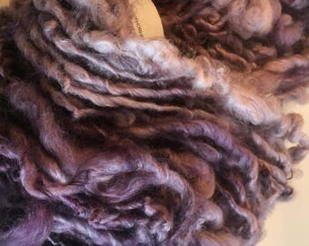 Dusky Purple English Leicester  Handspun Handdyed Chunky Yarn
