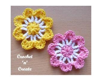 Crochet Pretty Flower Crochet Pattern (DOWNLOAD) CNC107