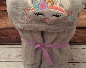 Hooded toddler Bath Towel