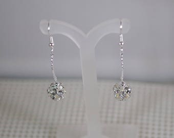 """Silver Fireball Earrings - Silver Plated Findings - Choice of French wires, leverbacks or posts - 1-1/2"""" Long"""