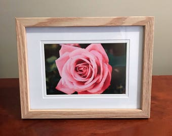 Rose Print in wooden frame, print size 6x4inch, digitally crafted print, rose print,  cottage decor, home decorating, holiday home  decor,
