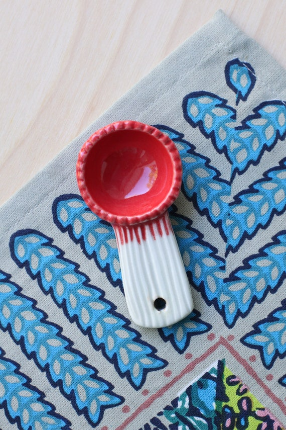 salt scoop in red