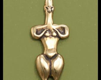 GODDESS of the FROG SHRINE- Pendant- Bronze