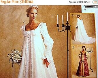 on SALE 25% Off Ever After Dress Renaissance Wedding Gown Costume Dress Pattern Misses Size 14 16 18 UNCUT