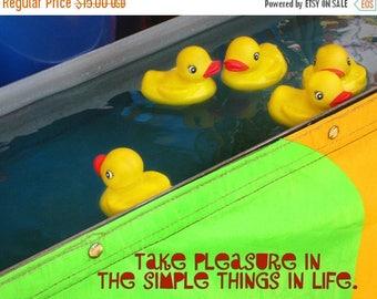 CIJ SALE Rubber Ducky Print,  Take Pleasure in Simple Things, Rubber Ducks, Carnival Game