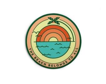 Beach Sunrise Vinyl Sticker