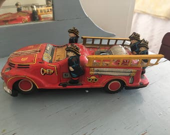 Vintage Tin Firetruck