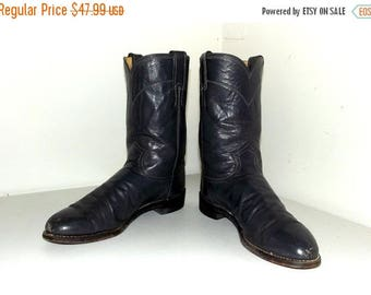 Grey Justin brand Roper style cowboy boots size 8.5 B or cowgirl size 10