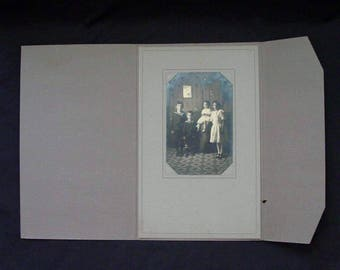 Family Photo Gallery Boys in Sailor Suits Studio Portrait Instant Ancestor w/Display Folder Vintage Photography Victorian 1900's (MR5)