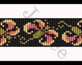 Bead Pattern - Wild flower 1 Bracelet - Loom Stitch