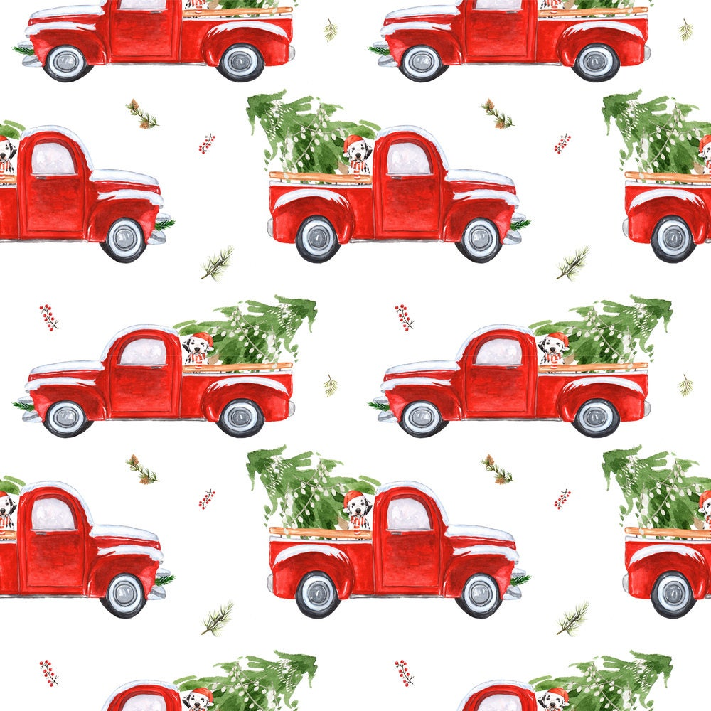 Christmas Tree Fabric 4 Best Friend Christmas Truck By