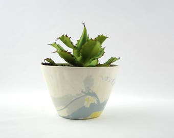 Small Planter with Brushwork Decoration