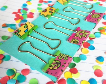 Mini Groovy Doodle Clips (Secret Garden/Happy Trails)