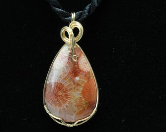 Petrified Coral Pendant. Listing 563005819
