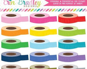 80% OFF SALE Digital Washi Tape Rolls Clipart, Instant Download Personal & Commercial Use Clip Art Graphics, Planner Clip Art