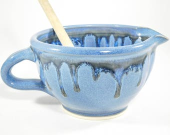 Whisking Bowl - 15 % Off - Ceramic Gravy Boat - Ceramic Mix Bowl - Batter Bowl - Gravy Boat Pottery - Bowl Batter - In Stock