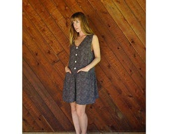 20% off SUMMER SALE. . . Sleeveless Dot Print Mini Summer Dress - Vintage 90s - S/M