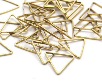 Brass Triangle Ring, 50 Raw Brass Triangles (11x11x11mm) Bs-1164