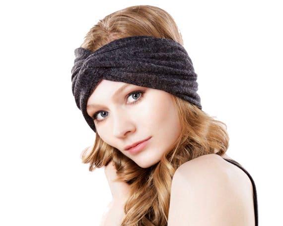 Ear Warmer Turban Headband Headwrap Hair Accessory Gray Headband Gift For Her Boho Chic Spring Accessory 1920s Headband Spring Fashion