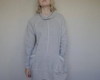 Organic Cotton Melange French Terry Turtle Sweatshirt