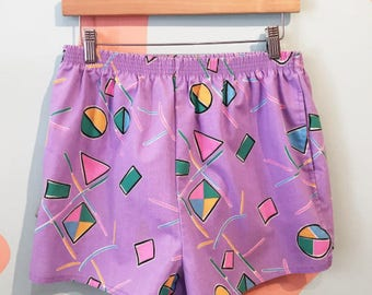 80s AVON Memphis Style Pattern Lilac Pastel Geometric