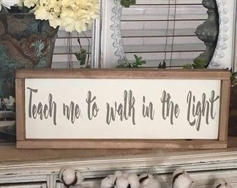 LDS Sign | LDS Wall Art | LDS | Religious Sign | Spiritual Sign | Hand Script | Farmhouse Sign | Farmhouse Decor | Cottage Decor | Wood Sign