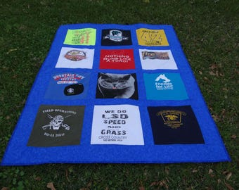 Tshirt Quilt using your College T shirts