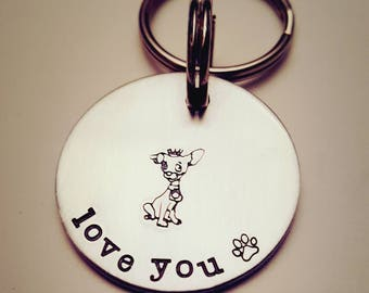I am Cuteness, Pet Keychain, Min Pin Keychain, Min Pin Mom gift, Min Pin Dad gift, min pin stamp, Min Pin owner gift,  Pinscher Keychain