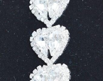 ON SALE Pretty Vintage Rhinestone, Crystal Pendant, Supplies