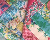 Baby Quilt Top Rail fence pattern  fabrics  by Jennifer Paganelli  Bright Roses   Ready to Quilt DIY Nursery Gift Baby Shower