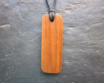"Natural Wood Pendant - Apple/Quert - Unique ""Secret Sigil"" Ogham Design."