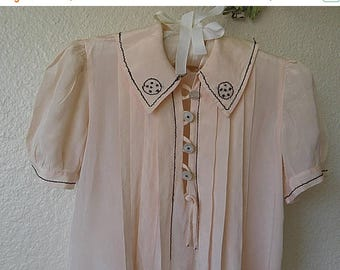 christmasinjuly Vintage SILK Toddler Dress Pale Peach, Gorgeous