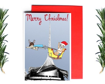 Melbourne Christmas Card - Merry Christmas Arts Centre | Greeting Card | Holiday Card | Melbourne Christmas Card