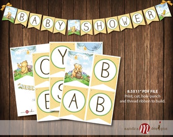 Classic Winnie the Pooh Baby Shower Banner