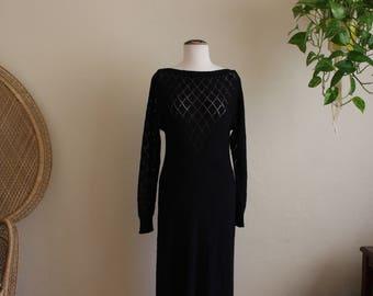 Vintage black knit dress