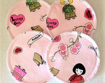 2 Pairs of Cloth Nursing Pads - Lucky Girl