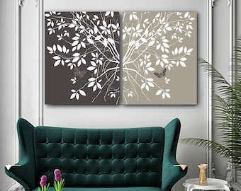 birthday gift for wife gifts for wife 30th birthday gift 35th birthday gift Nature wall art branches large wall art Set of 2 canvases