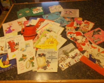 Large assortment of Vintage Greeting Cards