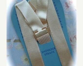 ON SALE Antique 1940s Shoulder Silk Straps we call them Bra straps now