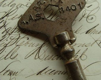 Rare Antique Metal Salvage Railroad Roller Key