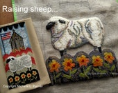 Punch Needle Embroidery DIGITAL Jpeg PDF PATTERN Michelle Palmer Bonus Rug Hooking pattern Hop House Genesee Country Village Barn Sheep Flag