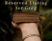 RESERVED for Greg -  Observations #2 - Dark Brown Leather Journal, Tea Stained Pages - OOAK
