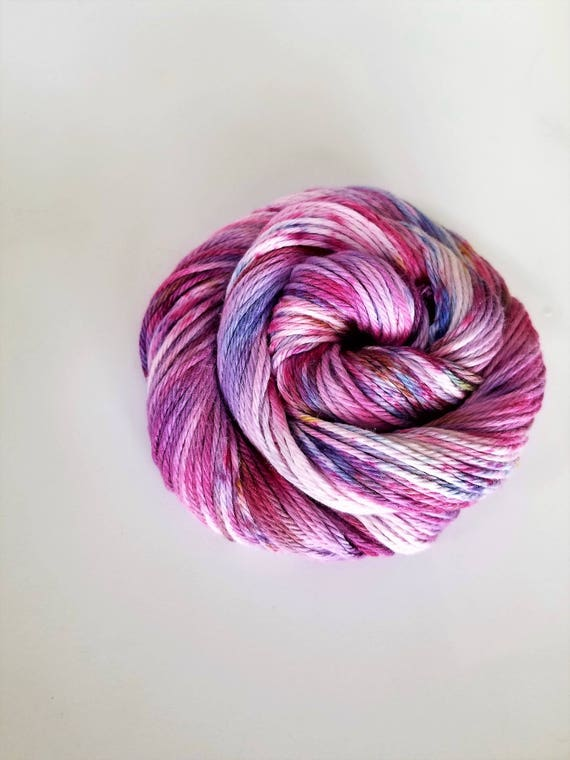 As You Wish- 100% cotton, Hand dyed, fingering weight, Speckled, Hand Painted