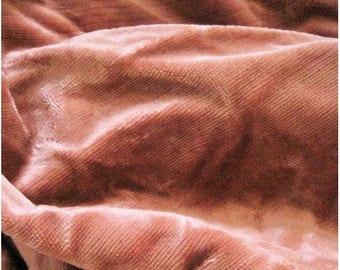 Antique Velvet Fabric Pink Shabby
