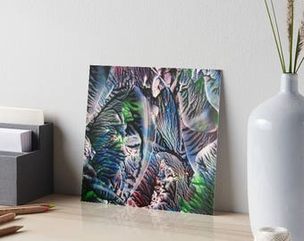 Encaustic Polychromatic Agate Art Board / Art for Small Spaces / Collectible Small Format Art / Made to Order in 3 Sizes